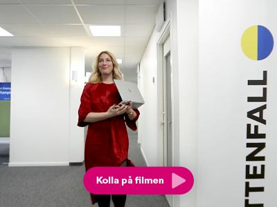 Stillbild från informationsfilm till Vattenfall